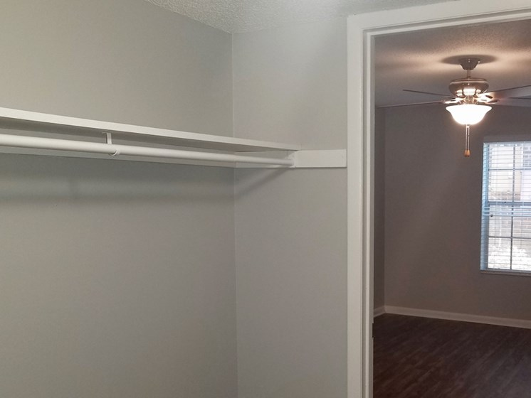 Walk-in closets at Heritage Park Apartments in Tallahassee, Florida