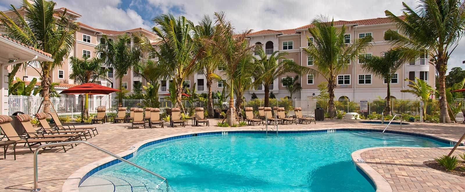 Outdoor pool at Diamond Oaks Village, Bonita Springs, FL, 34134