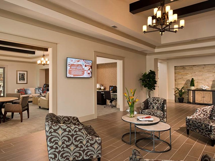 Resident Social Lounge at Diamond Oaks Village, Bonita Springs, Florida