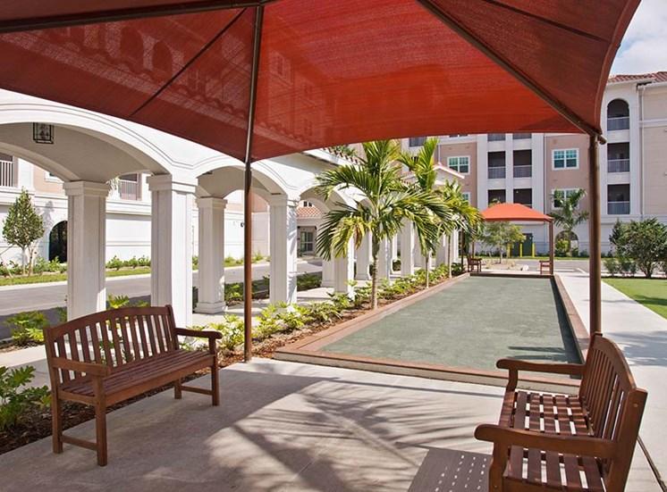 Bocci court at Diamond Oaks Village, Bonita Springs, Florida