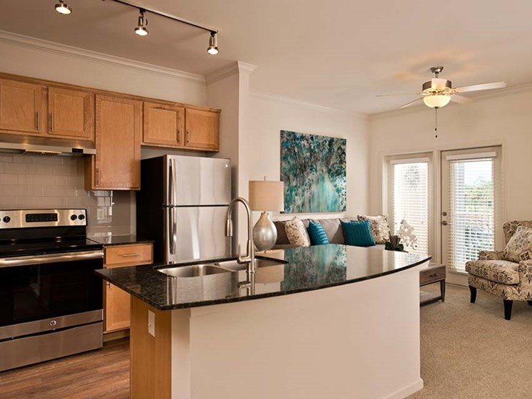 Large Center Island Kitchen at Diamond Oaks Village, Bonita Springs, FL