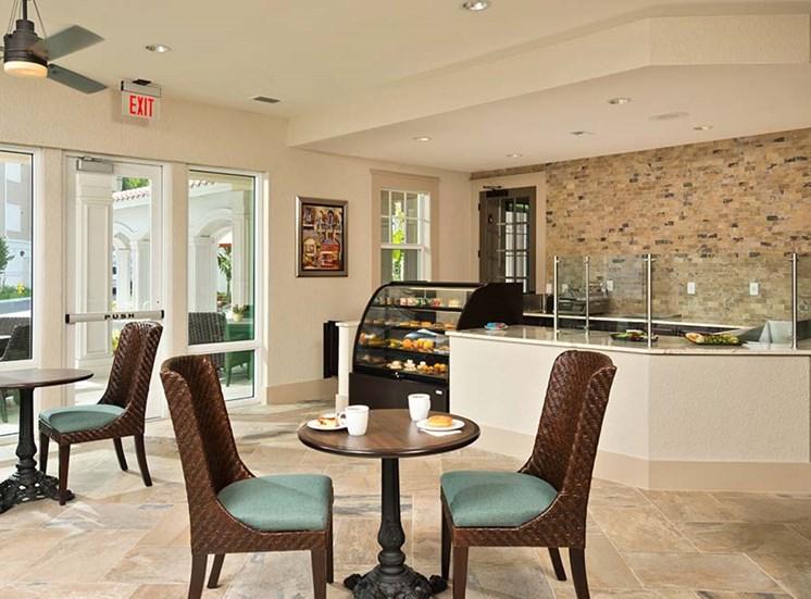 On-site dining room & pub at Diamond Oaks Village, Bonita Springs