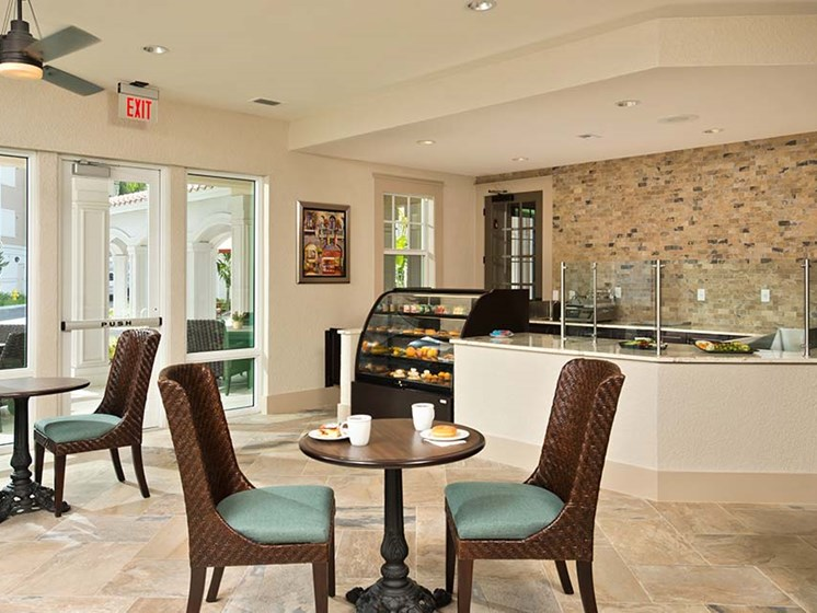 On-site dining room & pub at Diamond Oaks Village, Bonita Springs