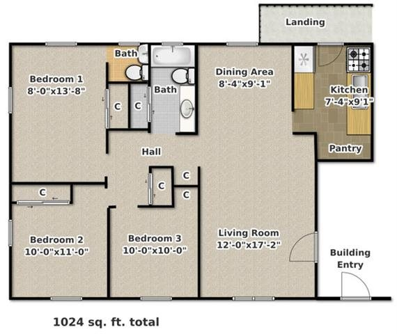 Floor Plans Of Stonegate Apartments In Blacksburg, VA