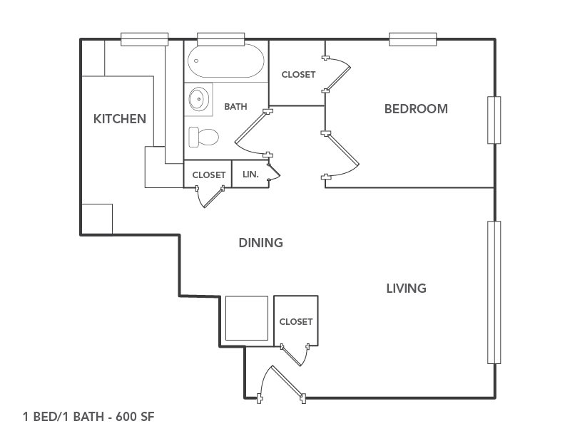 Floor Plans of Plaza East Townhomes & Apartments in Kansas City, MO