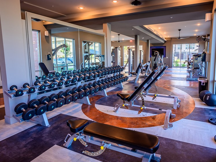 Brand New Fitness Center. Who Needs a Gym Membership when You have this?