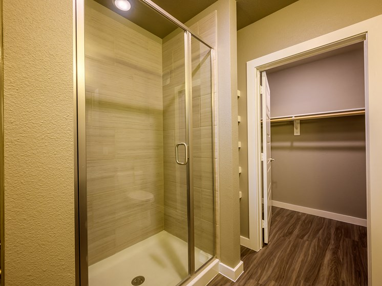 Large Bathroom with Standing Shower