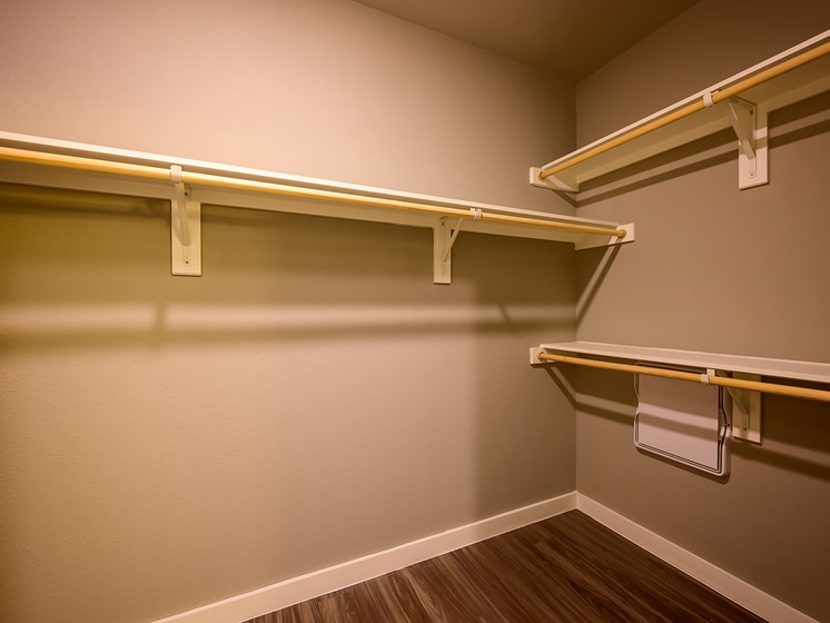 Large Closet with Built-In Shelvesq