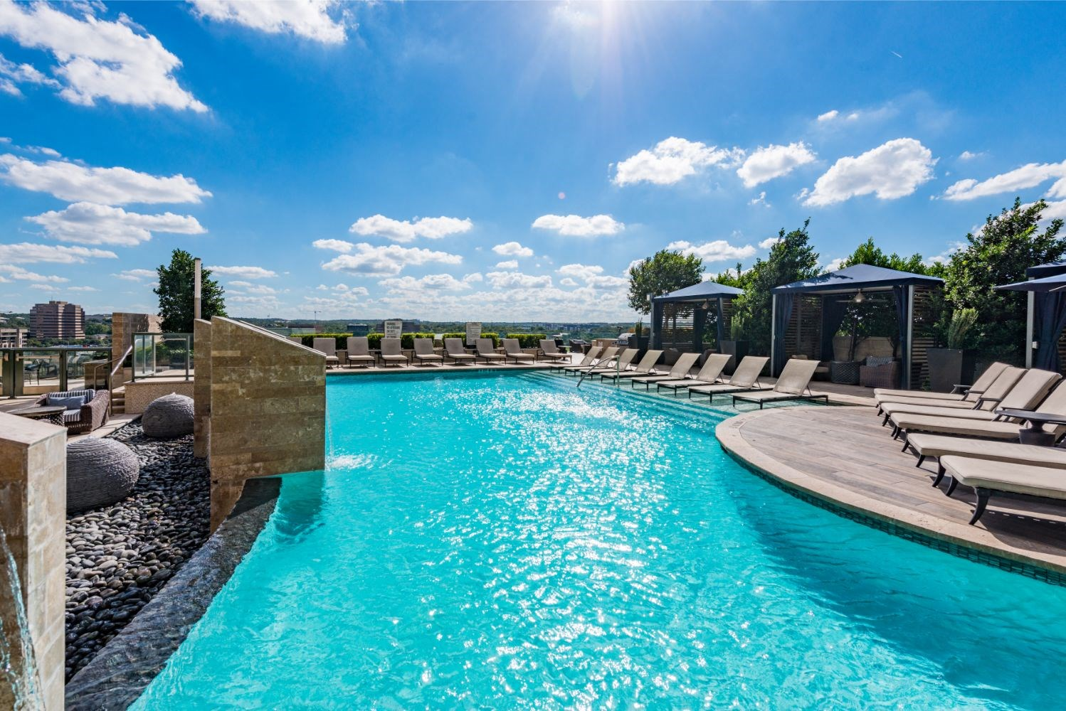 Swimming Pool with Lounge Chairs at Northshore Austin, Austin, TX, 78701