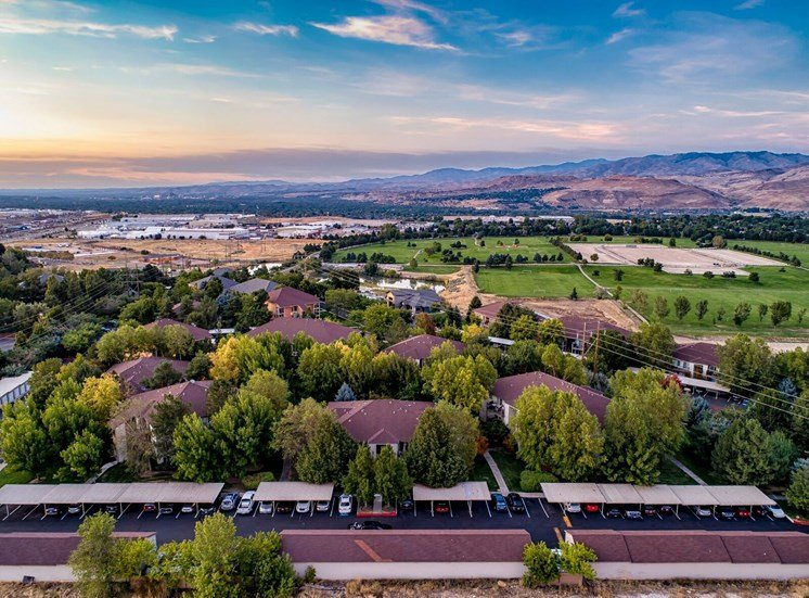 Aerial view  at Columbia Village, Boise, 83716