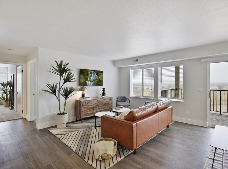 Spacious Living Room With Private Balcony at Columbia Village, Boise, 83716
