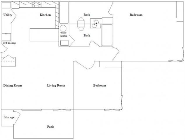 2 Bed 2 Bath Floor Plan at Columbia Village, Boise, Idaho