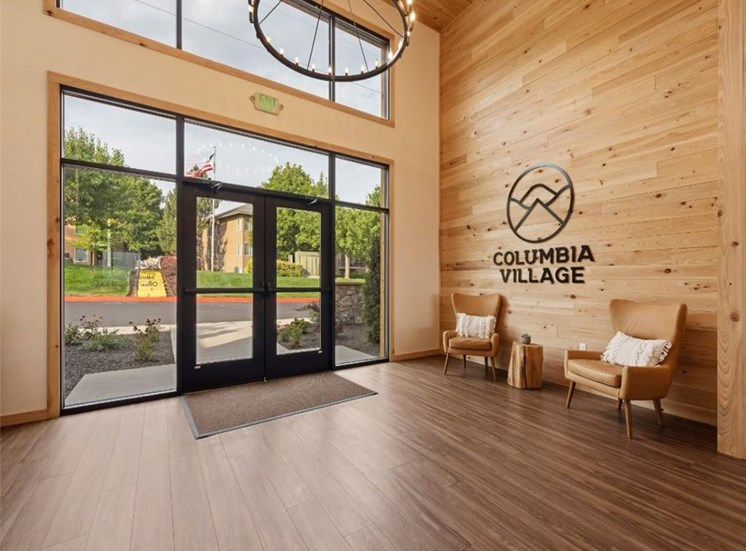 Front entrance at Columbia Village, Idaho, 83716