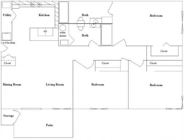 3 Bed 2 Bath Floor Plan at Columbia Village, Idaho