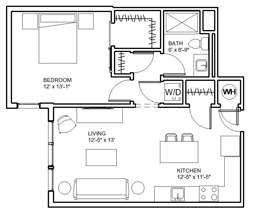 Floor Plans of Hibernia Apartments in St. Louis, MO