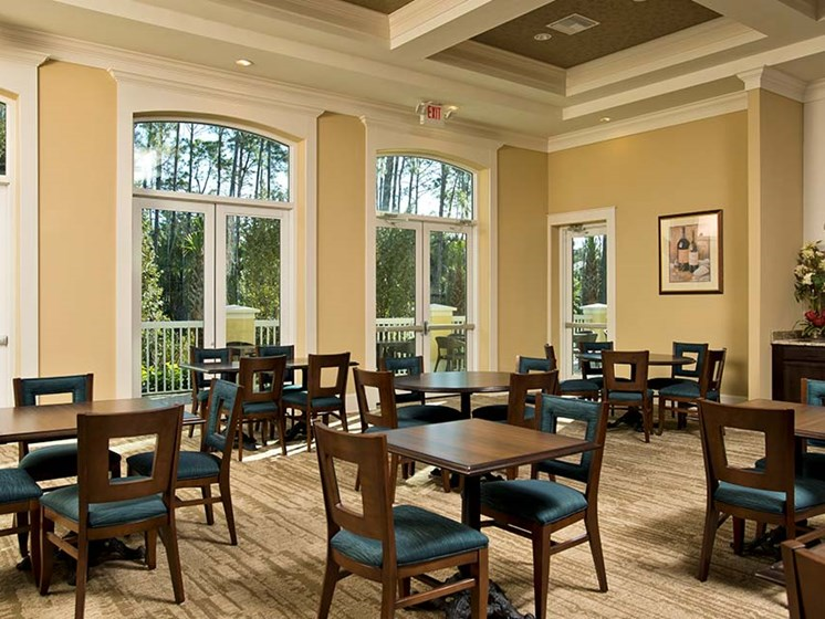 On-site dining room at Sandalwood Village, Florida, 34109