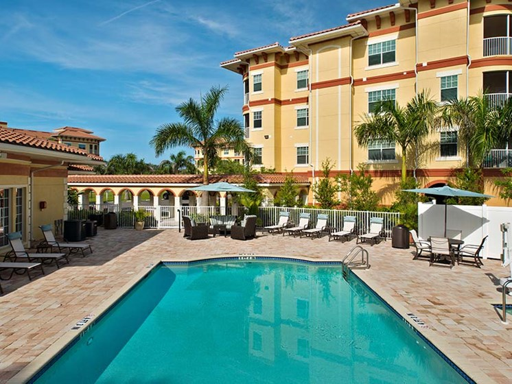 Crystal-clear Swimming Pool at Sandalwood Village, Naples, FL