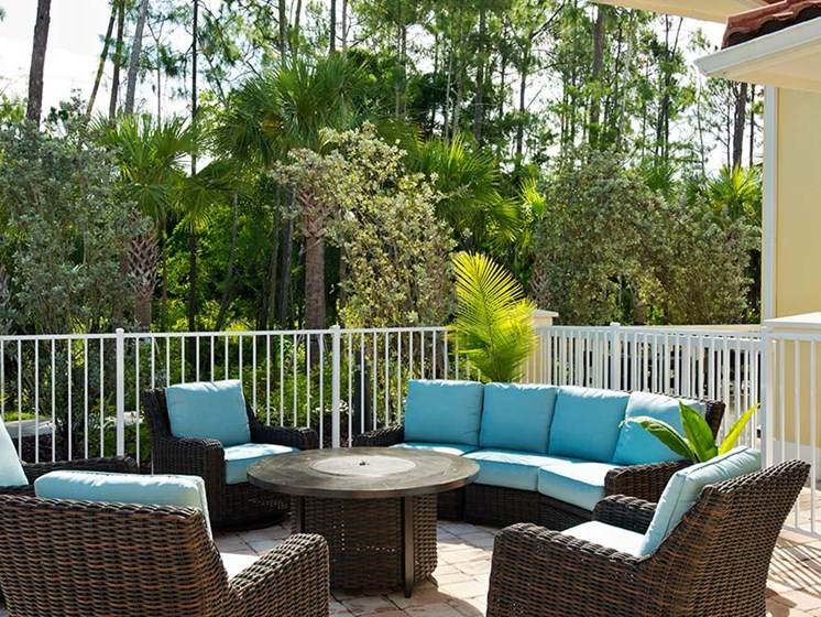 Outside patio at Sandalwood Village, Naples, FL