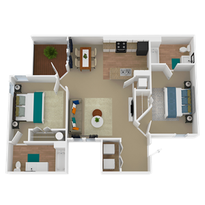 Tremont floor plan at The Avenues of Inverness apartment homes in Birmingham, AL