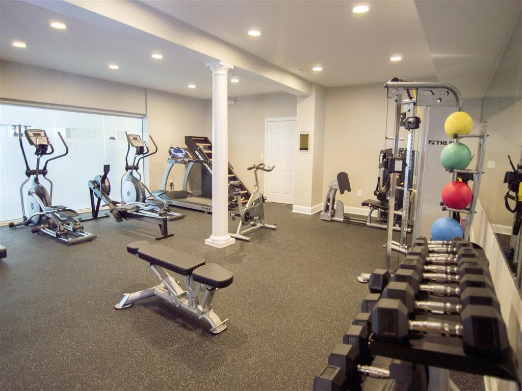 Work up a sweat at the fitness center at Haven at Research Triangle Park