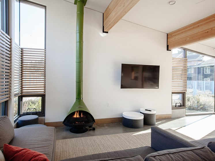 Cedar Hills - fireplace - wide angle