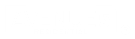 Avenue5 Residential White Logo