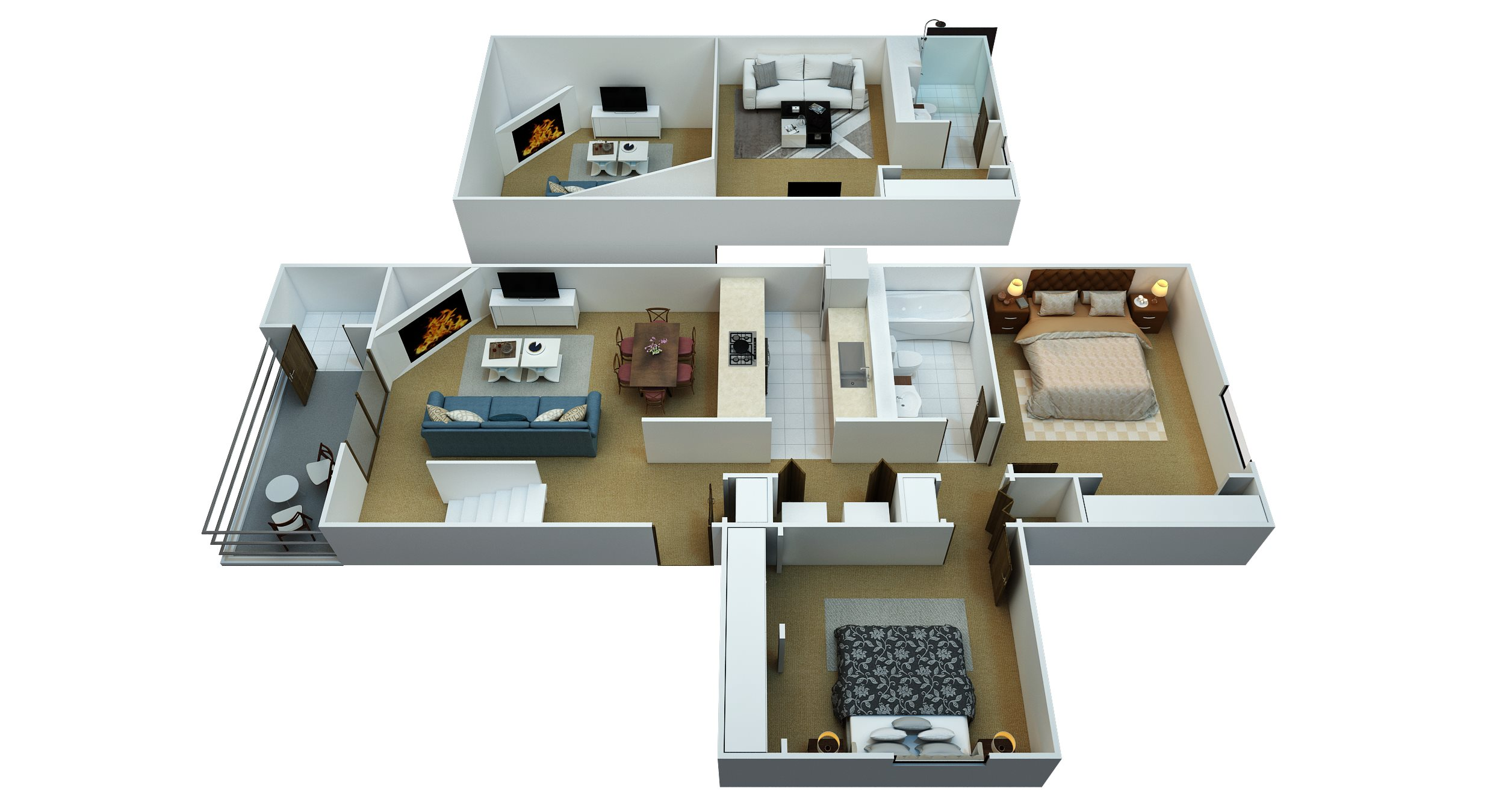 2 Bedroom, 2 Bathroom with Den Floor Plan 5