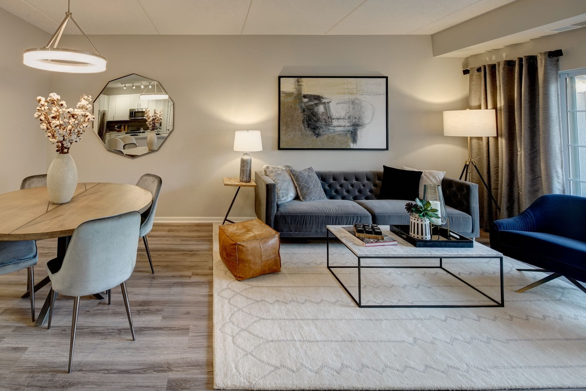 Classic Living Room Design at The MilTon Luxury Apartments, Vernon Hills, IL, 60061