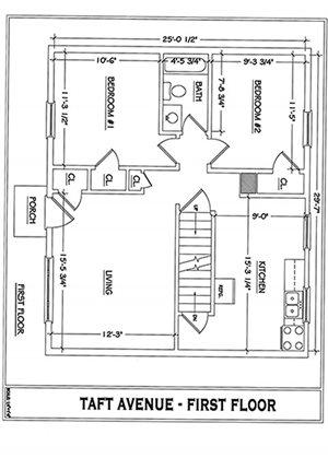 4 Floor of Four Bedroom 1 Bath Floor Plan in Winchester, VA 22601