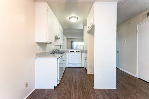 Kitchen and hallway  |Nola624 Apts in West Covina