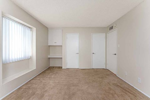 room with shelves  |Nola624 Apts in West Covina