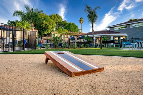 Cornhole  |Nola624 Apts in West Covina
