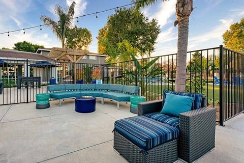 Pool furniture |Nola624 Apts in West Covina