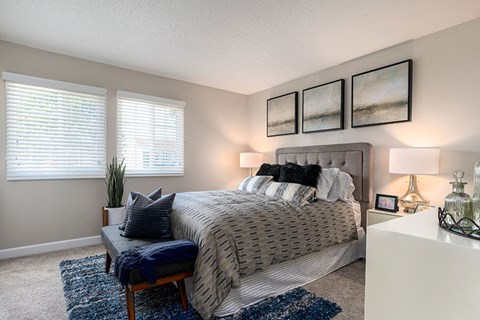 One Bedroom Apartments in West Covina CA-Lafayette Parc Apartments Bedroom with Storage Space