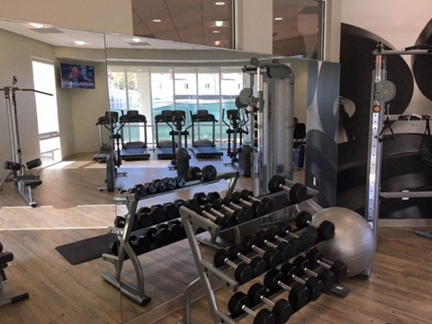 Gym with Weights and Cardio Nola624 Apartments | West Covina CA