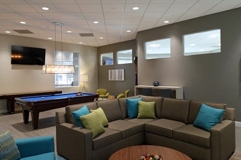 Pool Table and Couch Apartment homes in West Covina CA | |Nola624 Apts