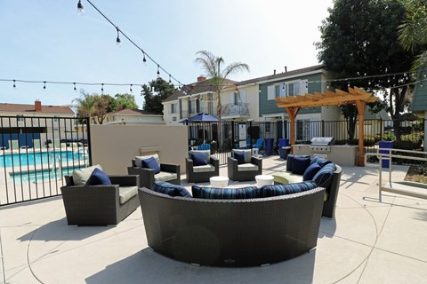 Pool with Lounge Chairs West Covina 91790 | |Nola624 Apts