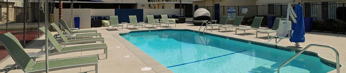 Pool with Lounge Chairs West Covina CA 91790 | Lafayette Parc Apts
