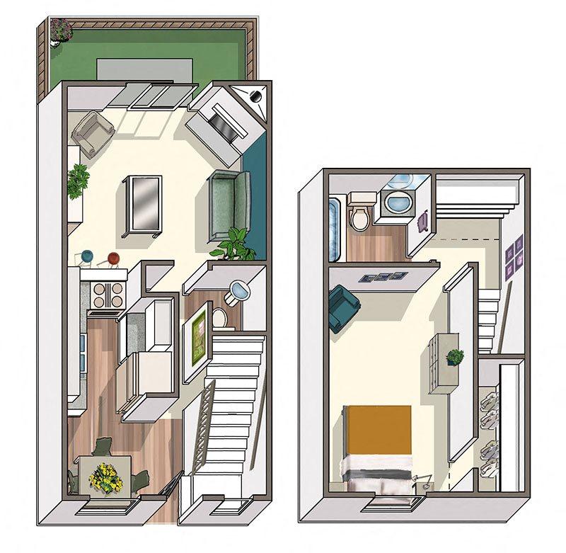 Lafayette Parc Orleans Floor Plan 2