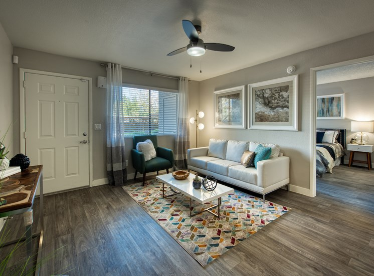 Bright Living Room at Paseo 51 in Glendale, AZ