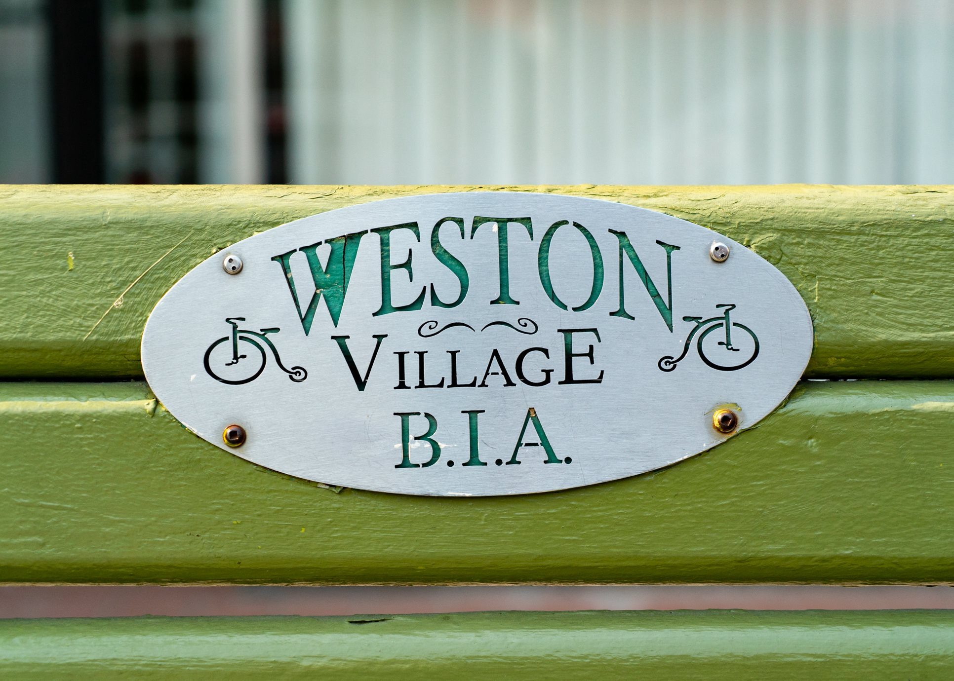 Weston Village Park Bench