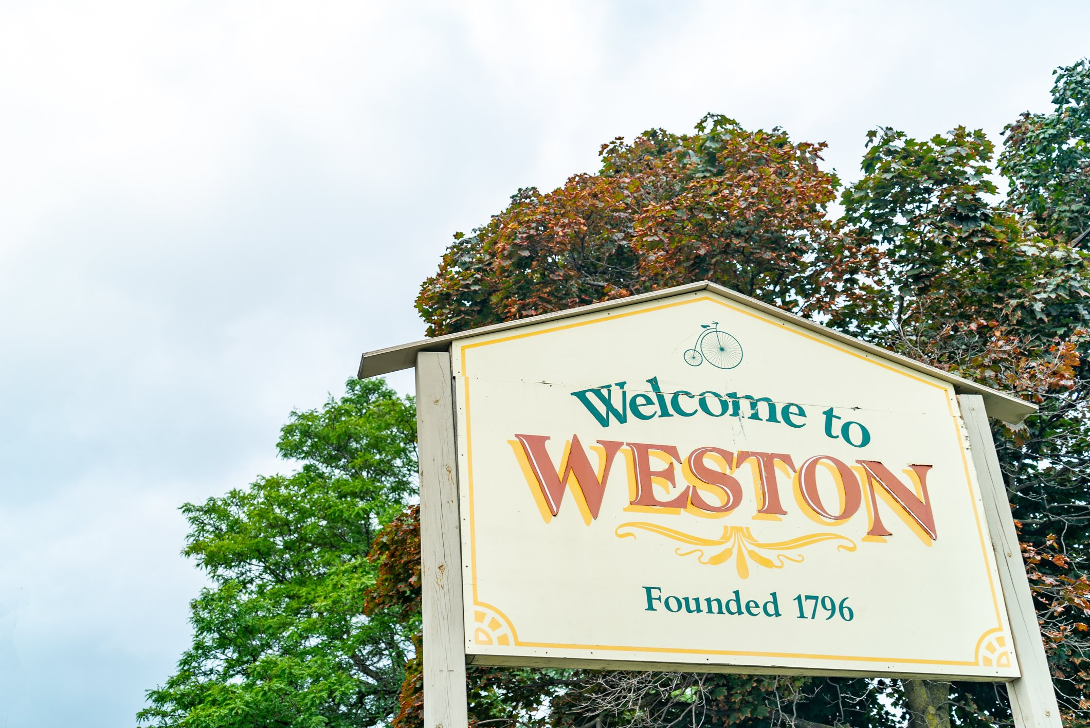 Welcome to Weston Village Sign