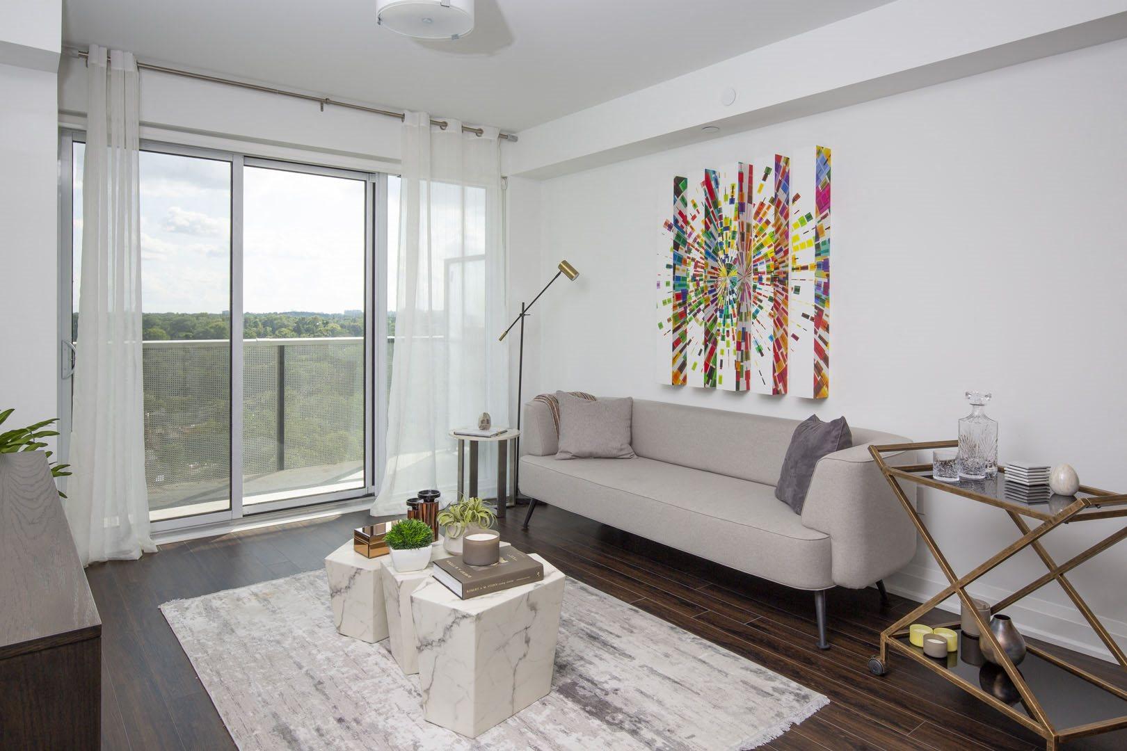 West22 Model Suite Living Room