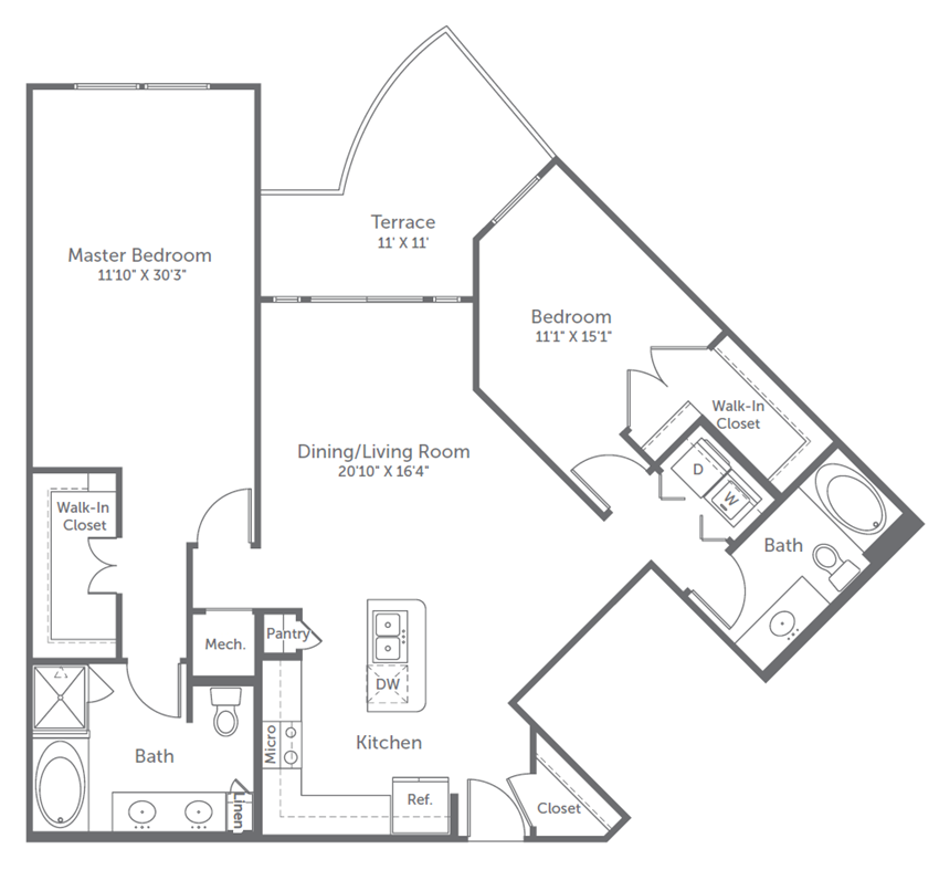 2 bedroom river oaks apartments