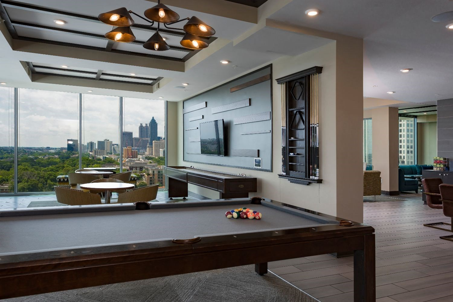 Game Room With Billiards at Azure on The Park, Atlanta, 30309