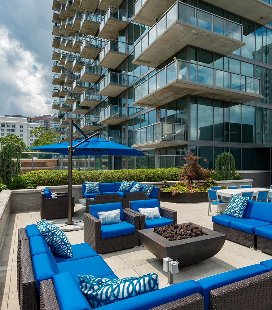 7th Floor Terrace Lounge at Azure on The Park, Atlanta, GA, 30309