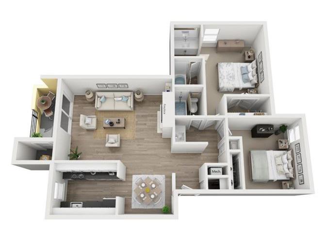 Cedar floor plan.