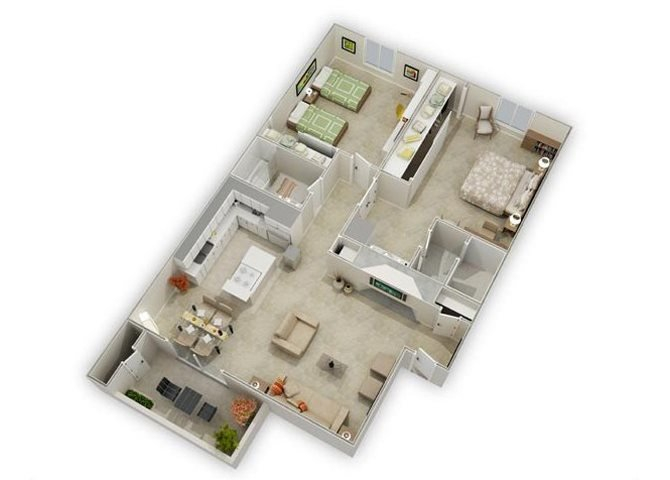Cordoba floor plan.