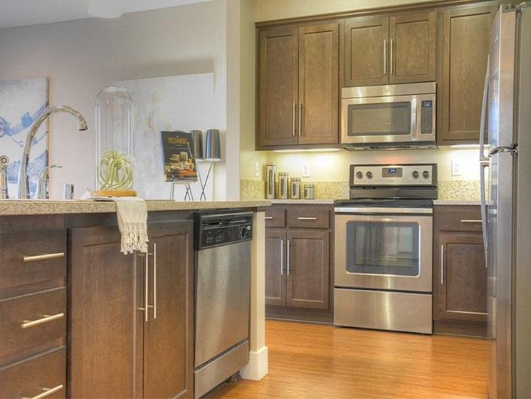 Model apartment home kitchen