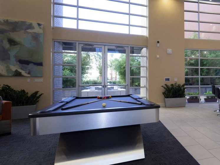 Billiard in resident lounge